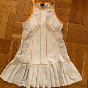 Nike white pleated tennis dress